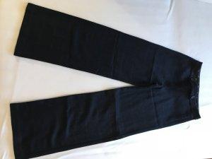 Wollen broek donkerblauw-bordeaux