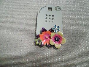 Brosche / Anstecknadel Blumen