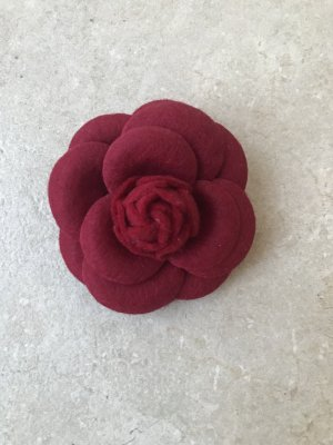 Brooch dark red