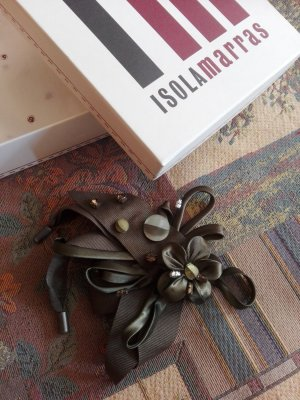 Isola Marras Brooch forest green-olive green polyester