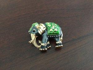 Brosche Elefanten grün