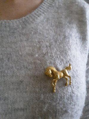 Brosche, gold, Pferd