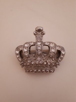 Brooch white-silver-colored metal