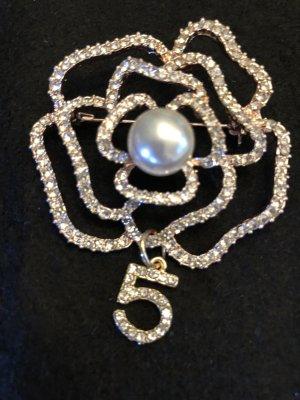 Brosche - Kamelie - Perle