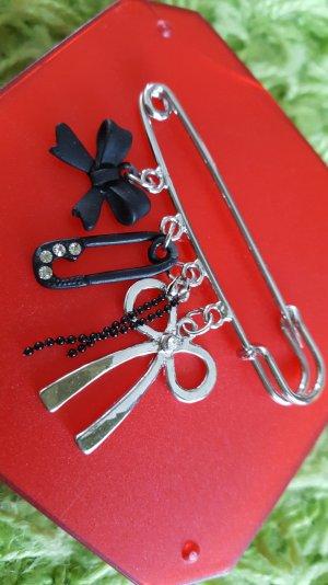 Spilla nero-argento