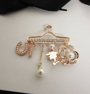 Brooch rose-gold-coloured-silver-colored