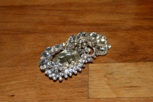 Brooch silver-colored-white metal