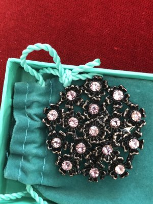 Brosche roséfarbene  Steine