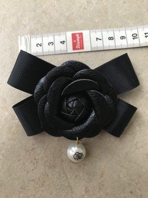 Brosche Schleife Im Chanel Stil Kamelie Blüte