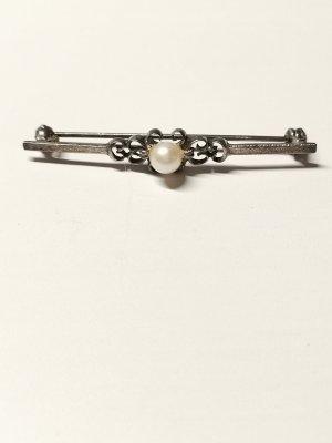Brosche Silber Perlen
