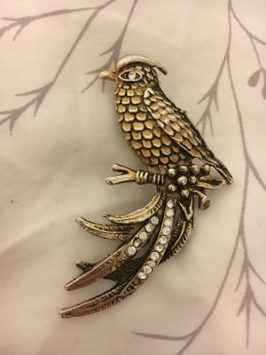 Vintage Brooch sand brown