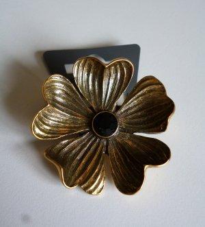 Pilgrim Broche goud-zwart Metaal