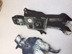 broschen set aus new york vogal Roboter