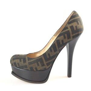 Brown  Fendi High Heel