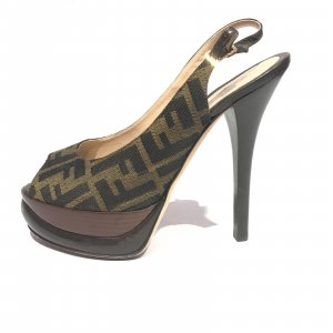 Fendi High-Heeled Sandals brown