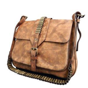 Brown Leather Skin Shoulder bag