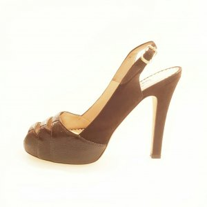 Brown  Oscar De La Renta High Heel