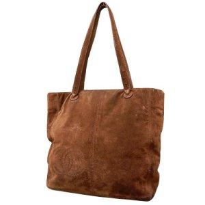 Chanel Sac à main brun daim