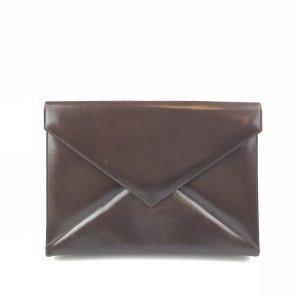 Yves Saint Laurent Borsa clutch marrone