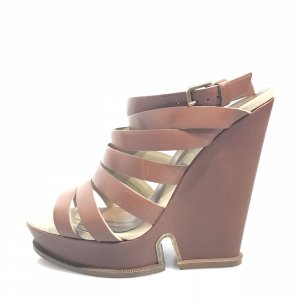 Yves Saint Laurent High-Heeled Sandals brown