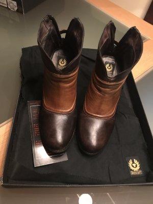 Belstaff Zipper Booties black brown-light brown leather