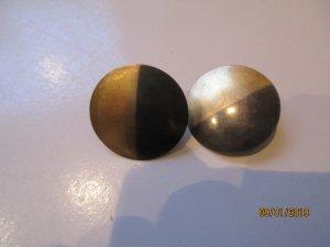 brünierte Silberohrringe mit Echtgoldauflage