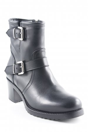 Bruglia Reißverschluss-Stiefeletten schwarz Metallelemente