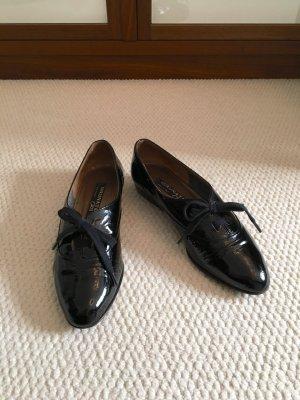 Brunate Schuhe / Slipper, schwarz, Lackleder, Ledersohle, Gr. 38