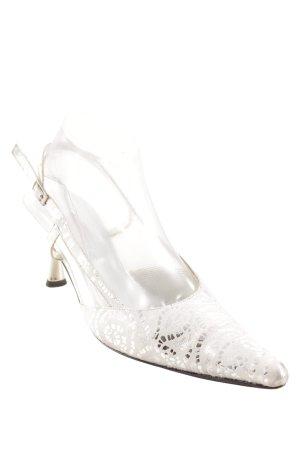 Brunella Spitz-Pumps weiß-silberfarben Elegant