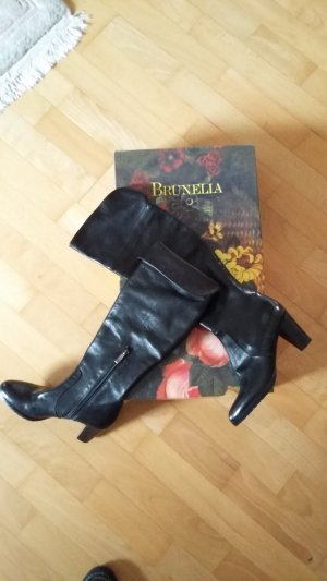 Brunella Botas sobre la rodilla negro Cuero