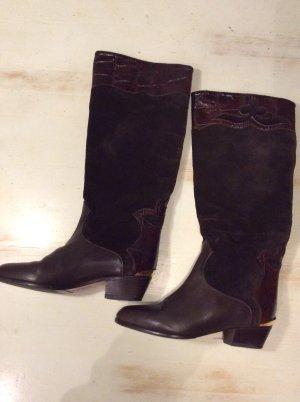 Brunella Vintage Lederstiefel Gr 35,5 braun