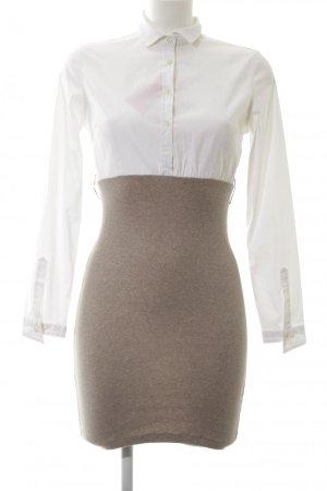 Brunello Cucinelli Pencil Dress light brown-white silk