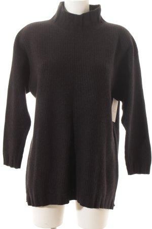 Brunello Cucinelli Cashmerepullover schwarz schlichter Stil