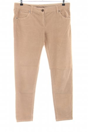 Brunello Cucinelli Pantalon en velours côtelé rose chair style décontracté