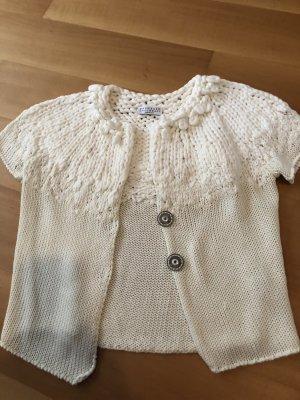 Brunello Cucinelli Veste en tricot blanc cassé-crème
