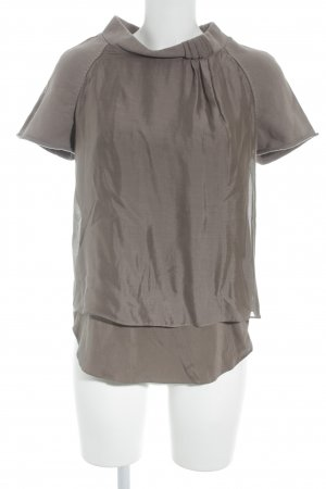 Brunello Cucinelli Kurzarm-Bluse graubraun Business-Look