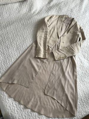Brunello Cucinelli Offenes Kleid / Seiden Mantel