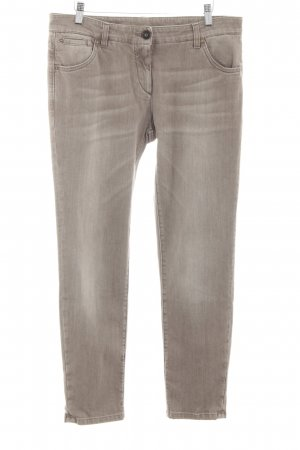 Brunello Cucinelli Slim Jeans braun Street-Fashion-Look