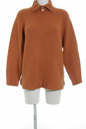 Brunello Cucinelli Strickpullover dunkelorange Casual-Look