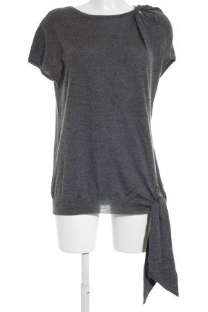 Brunello Cucinelli Camicia maglia grigio scuro puntinato stile casual
