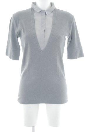 Brunello Cucinelli Camisa tejida gris-gris claro estilo sencillo
