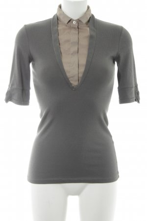 Brunello Cucinelli T-Shirt grau-beige Casual-Look