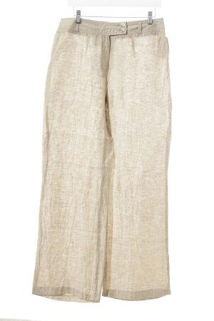 Brunetti Pantalon en lin beige-crème style décontracté