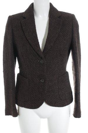 Brunetti Woll-Blazer dunkelbraun Webmuster Business-Look