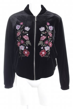 Bruno Banani College Jacket black floral pattern casual look