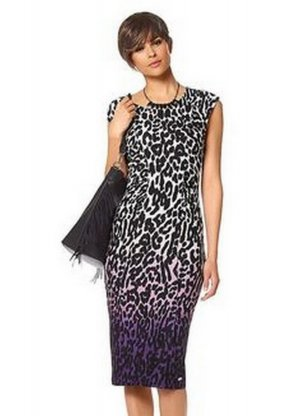 Bruno Banani Damen Kleid Leopard Muster