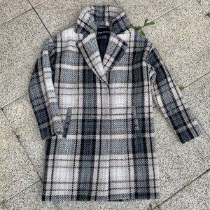 Bruno Banani Manteau en laine noir-blanc cassé laine