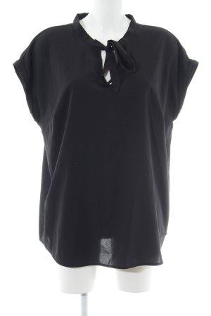 Bruno Banani Kurzarm-Bluse schwarz Elegant