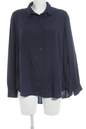 Bruno Banani Langarm-Bluse dunkelblau schlichter Stil