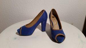Bruno Banani Peeptoes - blau / beige - ungetrage